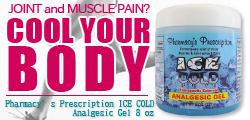 すべてのアスリートに/サーフィン後の筋肉・関節の アイシングに最適!!「Pharmacy's Prescription ICE COLD Analgesic Gel 8 oz (227 g) 」